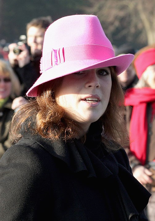 Eugenie was pretty in pink in 2009.