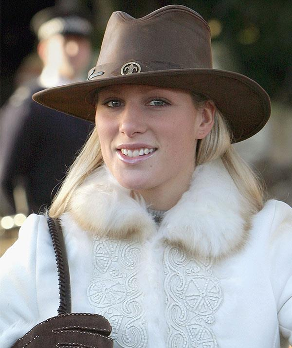 Who says you can't wear an Akubra to church? Zara Tindall channelled her inner cowgirl in 2004.