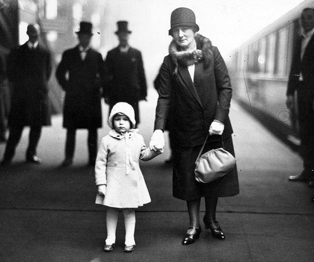 Before she became the longest-serving monarch, a then Princess Elizabeth was just a little girl who loved Christmas. Here she is in 1929, about to depart King's Cross station in London to spend the holiday season at Sandringham.