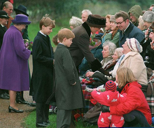 Crowds always camp out to catch a glimpse of the royals as they make their way to church and Princess Diana always made sure to stop and talk to the well-wishers.