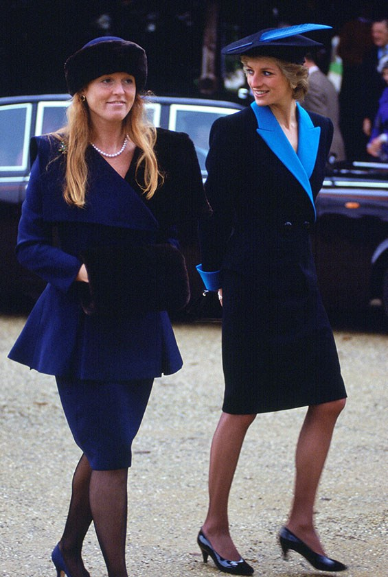 Royal sisters in-law Sarah Ferguson and Princess Diana put their best foot forward in 1988.