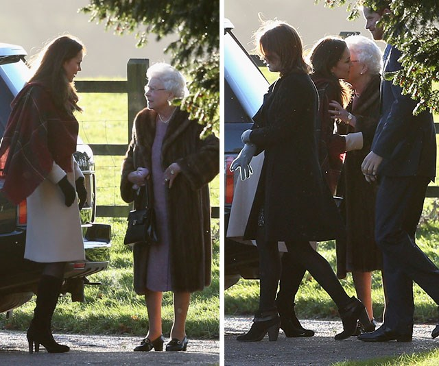 Kisses for The Queen! We love seeing the Royal Family interact with one another and this touching exchange between Duchess Catherine and Her Majesty has to be one of our favourites.