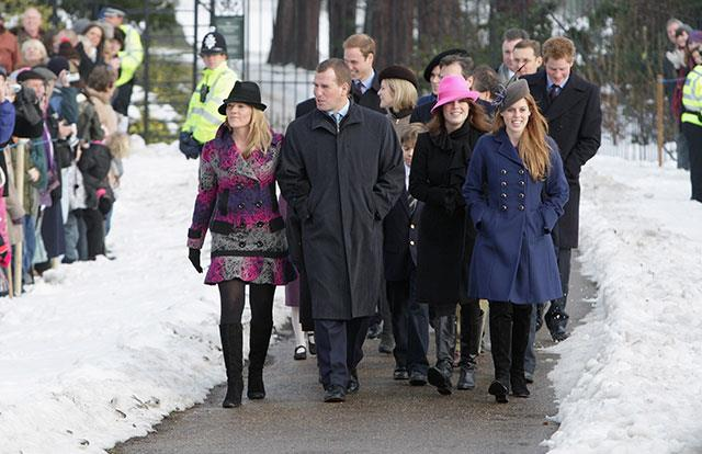 It was a winter wonderland for the royals on Christmas morning in 2009.
