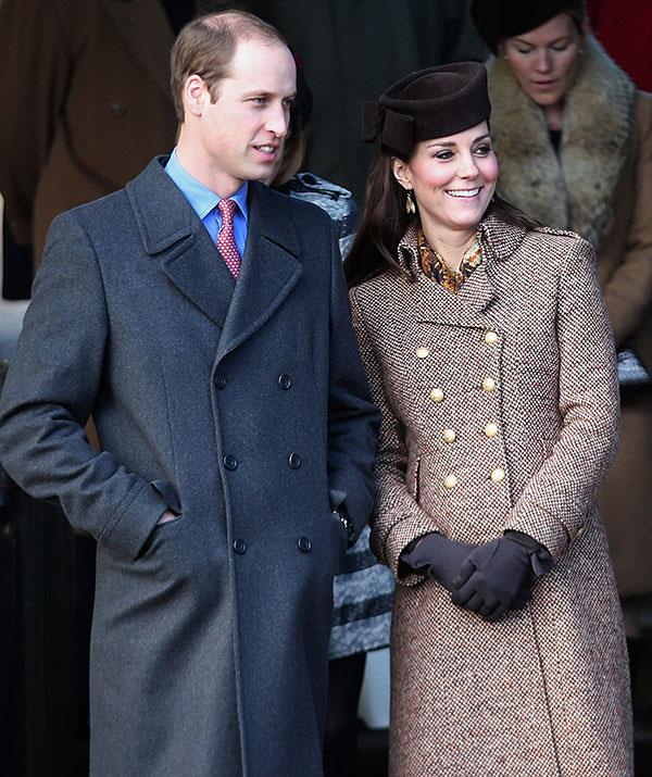 Pregnant with daughter Princess Charlotte at the time, the soon to be parents of two were positively beaming on Christmas morning in 2014.