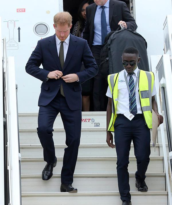 Prince Harry has landed in Africa for a two-day solo visit. *(Image: AAP)*