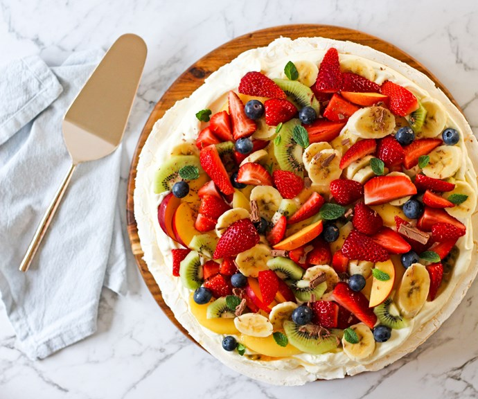 The traditional pavlova can be flipped on its head! *(Source: Supplied/Mum Central)*