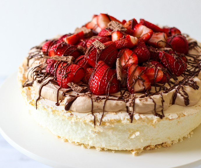 Wanting to try a different take on the delicious pavlova? Try a Nutella pav! *(Source: Supplied/Mum Central)*