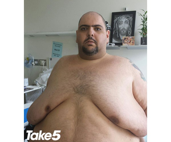 Andre after losing 130kg.