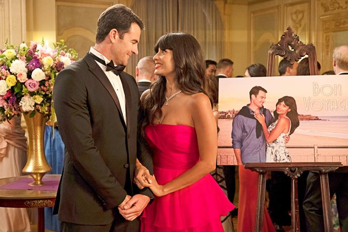Larry and Tahani are in love... for a moment.