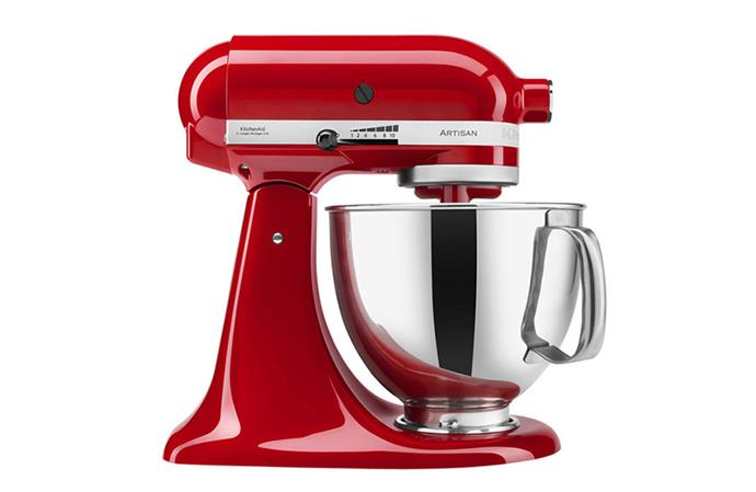 "[Kitchen Aid stand mixer](https://www.myer.com.au/p/ksm150-artisan-stand-mixer-empire-red-5ksm150psaer-948678320|target=""_blank""