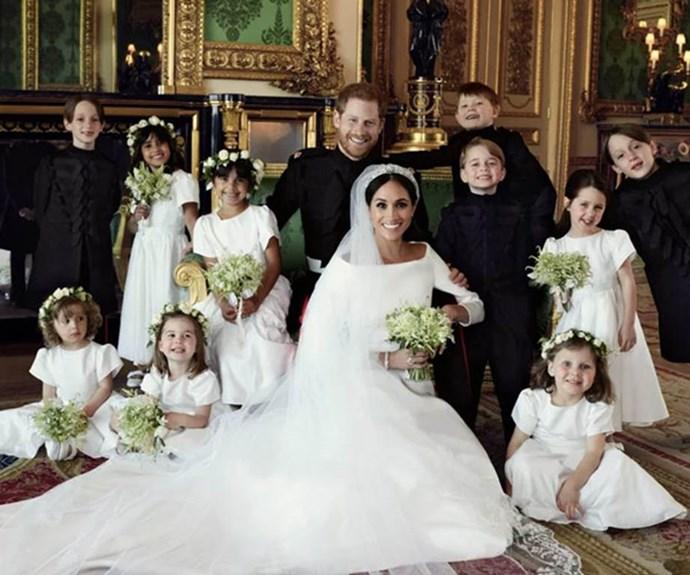 Harry and Meghan brought their informal charm to their official wedding photos. *(Image: Instagram @kensingtonroyal/ @alexilubomirski)*