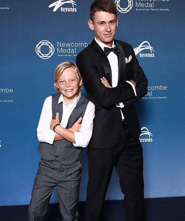 Tennis fanatics Cruz and Alex de Minaur struck a pose on the red carpet! *(Image: Getty)*