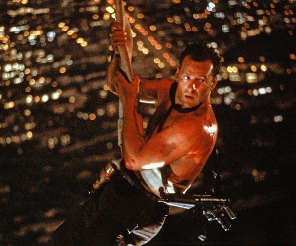 ***Die Hard* (1988, Foxtel)** <br><br> New York City cop John McClane (Bruce Willis) finds himself at the centre of a hostage situation, when a group of terrorists take over the building that his estranged wife works in. Very soon, McClane realises he is the only one who can save the hostages. For those who don't want to get *too* swept up in the festive spirit!