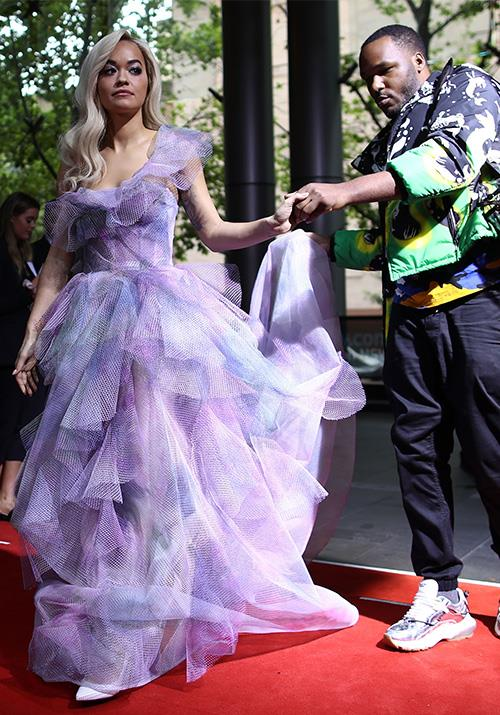Singer Rita Ora's vibe was purple princess - with a side of sass! *(Image: Getty)*