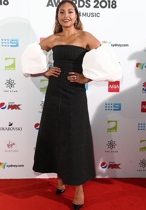 Aussie songstress Jessica Mauboy hasn't done her sleeves by halves this year! *(Image: Getty)*
