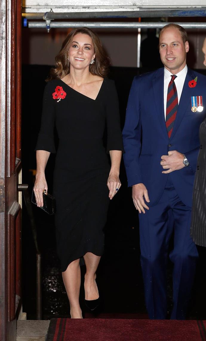 Kate and Wills were all smiles for the Festival of Remembrance earlier in November. *(Image: Getty)*