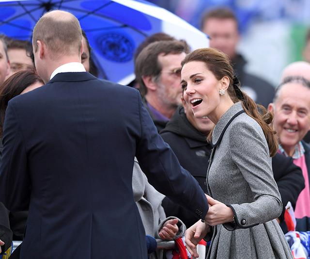 Prince William joined Kate as they made their way through the crowds. *(Image: Getty)*