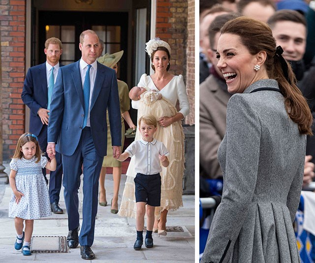"The Cambridge clan are already embracing the festive spirit with [Duchess Catherine](https://www.nowtolove.com.au/tags/catherine-duchess-of-cambridge|target=""_blank"") revealing her three children are ""getting excited for Christmas time, because they've started all their Christmas songs and the Christmas trees are going up."" *(Images: Getty)*"