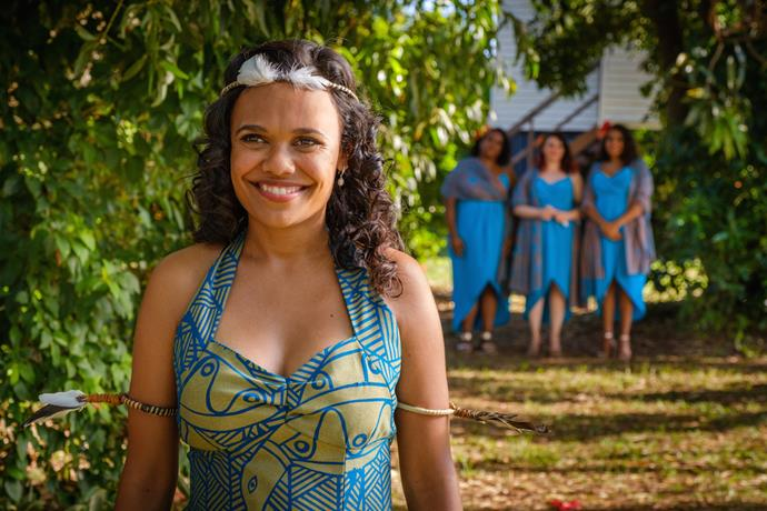 Miranda Tapsell stars in *Top End Wedding.*