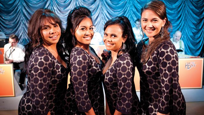 Miranda and Shari (right) previously starred together in *The Sapphires,* along with Deborah Mailman and Jessica Mauboy.