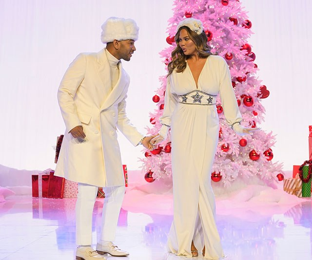 "Hollywood's golden couple John Legend and [Chrissy Teigen](https://www.nowtolove.com.au/tags/chrissy-teigen|target=""_blank"") love Christmas SO much they've released their own Christmas special show on *NBC*, aptly titled *A Legendary Christmas*. *(Image: Getty)*"