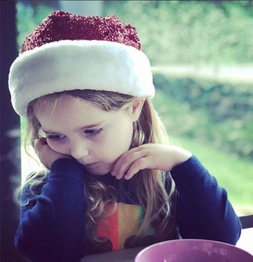 "Sometimes waiting around for Santa to visit can become quite tedious, right Betty Campbell? ""Ugh. How long until Christmas Daddy?"" [David Campbell](https://www.nowtolove.com.au/tags/david-campbell