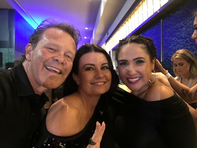 Troy Cassar-Daley, Laurel Edwards and me on the red carpet at the 2018 ARIA awards!