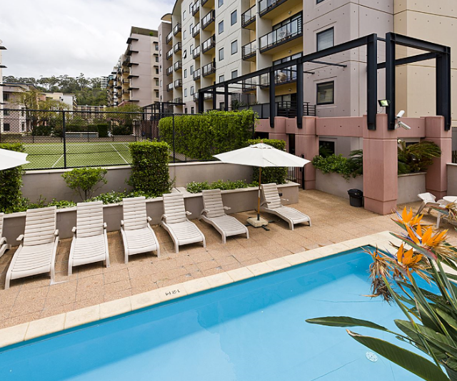 """**Mounts Bay Waters Apartment Hotel:** Spacious furnished one, two or three bedroom apartments will make you feel like you are at home at this child-friendly luxury resort. *Image: [Mounts Bay Waters Apartment Hotel](https://www.waldorf.com.au/en/mounts-bay/stay.html