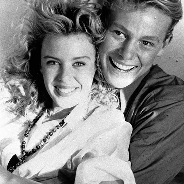 Kylie and Jason's on-screen *Neighbours* characters were iconic of the 1980s. *(Image: Instagram @kylieminogue)*