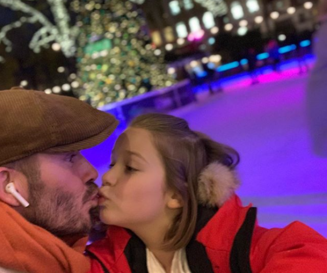 """Christmas is coming. Let's go skate,"" writes doting dad, David Beckham on Instagram. *Image: Instagram/DavidBeckham*"