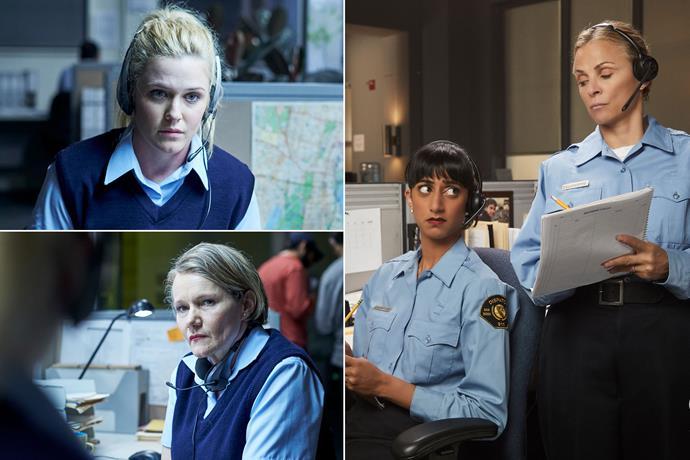 Australia's Harriet Dyer and Genevieve Morris, vs US's Sunita Mani and Amy Sedaris.