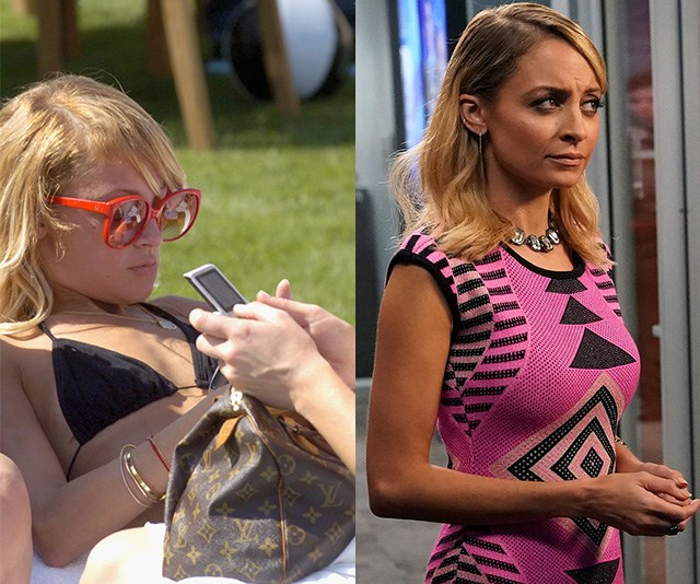 In 2006 (L) Nicole Richie sported a much smaller bust compared to now (R).