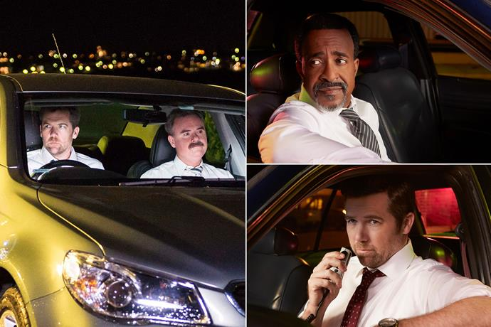 Patrick Brammall stars in both the Australian and US series, with Australia's Darren Gilshenan and US's Tim Meadows by his side.
