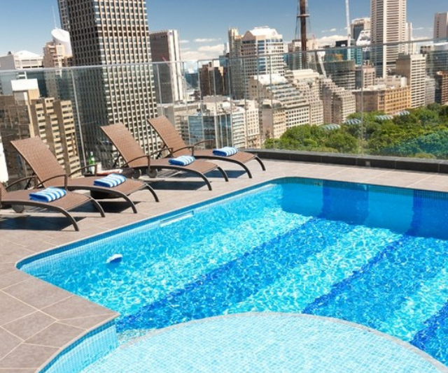 """**Pullman Sydney Hyde Park :** With plenty of options for sleeping four guests at a time, Pullman Quay Grand is a smart choice for family travellers. With plenty of useful amenities in the rooms - toasters, microwaves, kettles - this modern hotel can fast become a home away from home. The pool is pretty fabulous too! *Image: [Pullman Sydney Hyde Park](https://www.pullmansydneyhydepark.com.au/en/accommodation-in-sydney-hyde-park.html