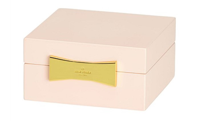 """For your forever-forgetful best friend — give her a beautiful place to store her jewellery and she'll never lose anything special again (fingers crossed). <br><br> [Kate Spade New York Garden Drive jewellery box](https://www.davidjones.com/gifts/gift-ideas/gifts-for-her/20145658/kate-spade-new-york-Garden-Drive-Jewellery-Box-Pink-10cm.html