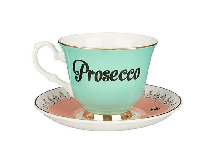 """For those who like the finer things in life, gift them this tongue-in-cheek teacup which adds a touch of glam to every teatime.  <br><br> [Yvonne Ellen Prosecco teacup and saucer](https://www.davidjones.com/gifts/gift-ideas/gifts-for-her/22015044/Teacup-And-Saucer-Prosecco.html
