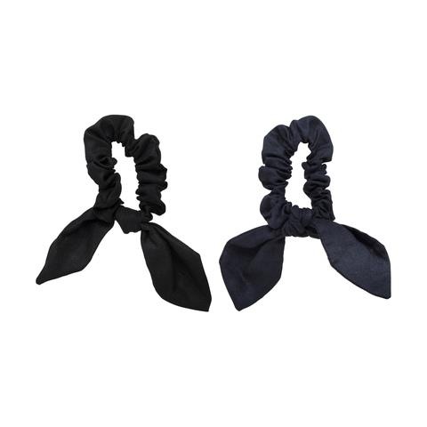 """These ribbon/scrunchies will hold your hair in place and look adroable - a double whammy! Available at [Kmart](https://www.kmart.com.au/product/2-pack-linen-scrunchies---black--navy/2269829 target=""""_blank"""" rel=""""nofollow"""") for $5.00. *(Image: Kmart)*"""