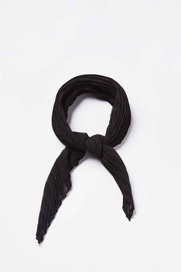 "This hair scarf can be tied around your ponytail, or worn as a scarf - a win win! Available from [Cotton On](https://cottonon.com/AU/soho-broadway-pleat-scarf/422825-01.html?dwvar_422825-01_color=422825-01&cgid=womens-hats-hair-accessories&originalPid=422825-01|target=""_blank""