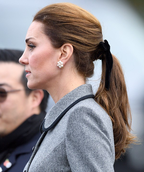 Kate has worn the velvet bow on more than one occasion. *(Image: Getty)*