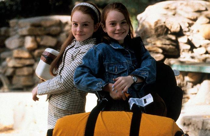 **THE PARENT TRAP (1998)** <br><br> Lindsay Lohan stars as long lost twins Annie and Hallie who meet for the first time on Summer Camp. After learning of each other and their parents separation, the duo devise a plan to bring their parents back together.