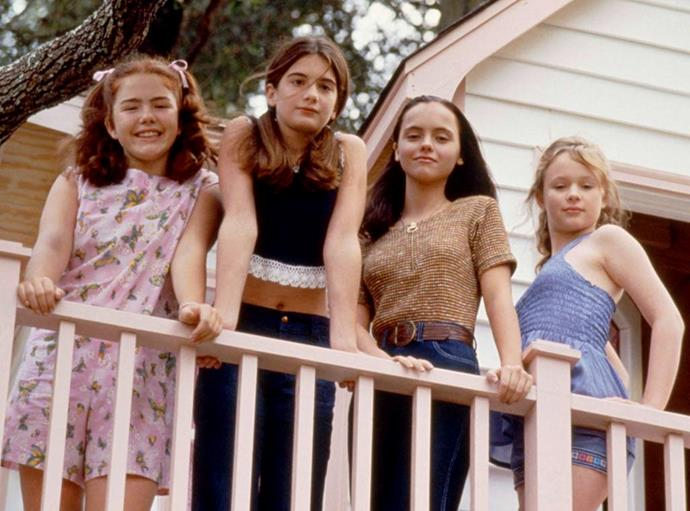 **NOW AND THEN (1995)** <br><br> After reuniting for the first time in years as adults, four childhood friends look back at an eventful summer in 1970 that shaped them into the women they are today.