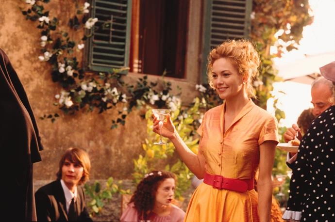 **UNDER THE TUSCAN SUN (2003)** <br><br> Upon discovering that her husband has been cheating on her, successful writer Frances(Diane Lane) makes a bold move to start a new chapter in her life, by purchasing a villa in Tuscany.