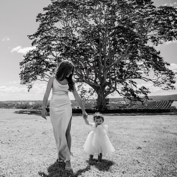 Eve (Snezana's daughter from her first marriage) and Willow Wendy Wood, Snez and Sam's daughter are picture perfect! *(Source: Alice Mahran Photography / Instagram: @samjameswood )*