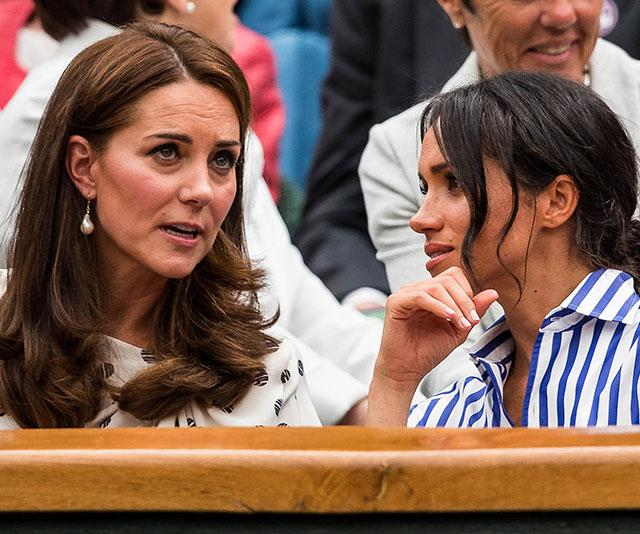 Duelling Duchesses: Kate reportedly told off Meghan for being rude to her staff members. *(Image: Getty)*