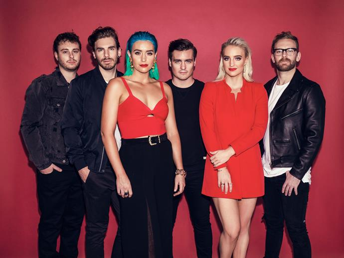 "**Sheppard** <br><br> The ARIA award-winning indie-pop band are known for their feel-good hits, including *Geronimo* and *Let Me Down Easy.* <br><br> ""We're excited at the prospect of representing Australia in what feels like the pop music Olympics,"" the band said in a statement.  <br><br> ""The fact that this is the first time the show has ever taken part in Australia and letting the public decide who gets to go to the Eurovision Song Contest 2019 is really exciting for us. It will be an historic television event that we look forward to being a part of!"""
