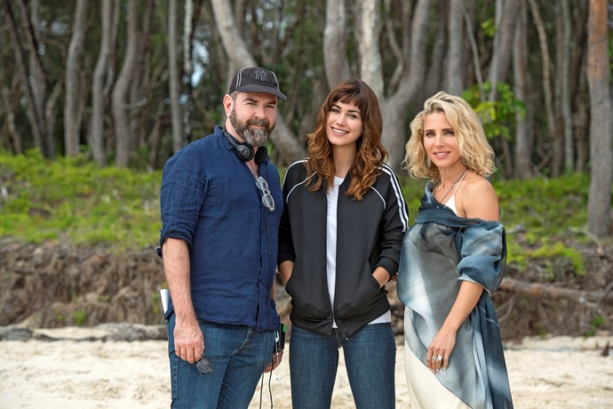 *Tidelands* executive producer Nathan Mayfield with Charlotte and Elsa.