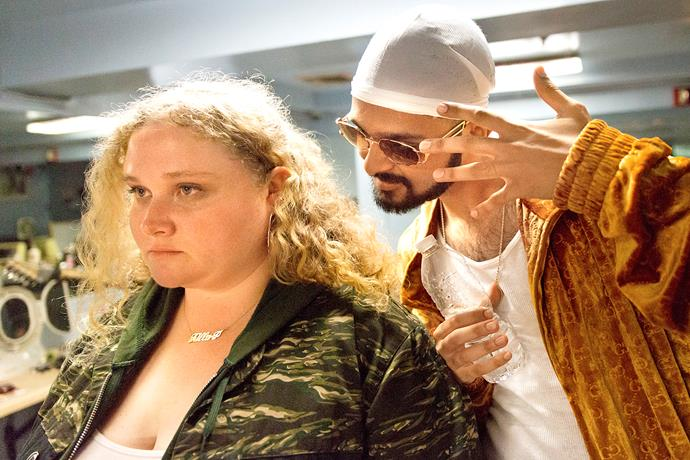 Playing an aspiring rapper in *Patti Cake$*, with Siddharth Dhananjay.