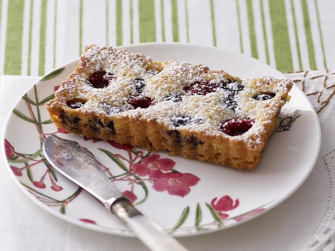 "**Gluten-free berry tarts** <br><br> An elegant dish to bake for an afternoon tea with friends, or a light dessert on a summer's eve. Serve with a little cream if you like. <br><br> [**Read the full recipe here**](https://www.womensweeklyfood.com.au/recipes/gluten-free-berry-tarts-9961|target=""_blank"") <br><br>"