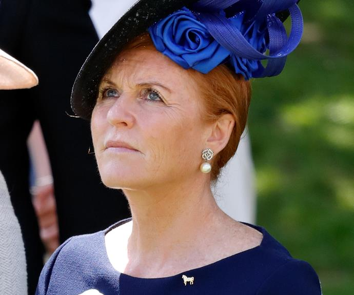 "Sarah Ferguson revealed a ""self-hatred"" after her divorce from Prince Andrew in 1996. *(Source: Getty)*"