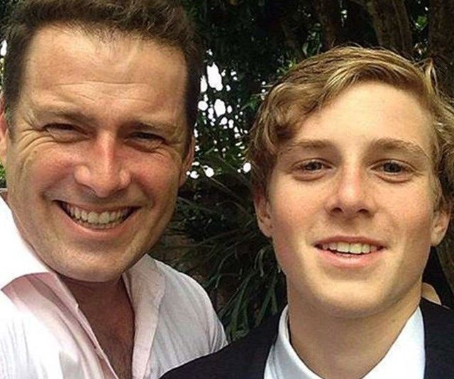 Karl's son Jackson will be attending the nuptials on Saturday. *(Source: Instagram/@KarlStefanovic)*